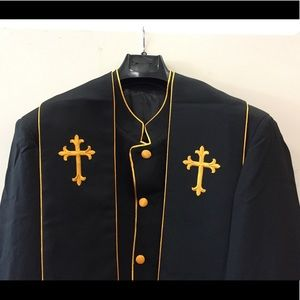 Clergy robe cassock with reversible stole
